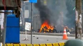 Explosión durante operación de desactivación de bomba en Colombo