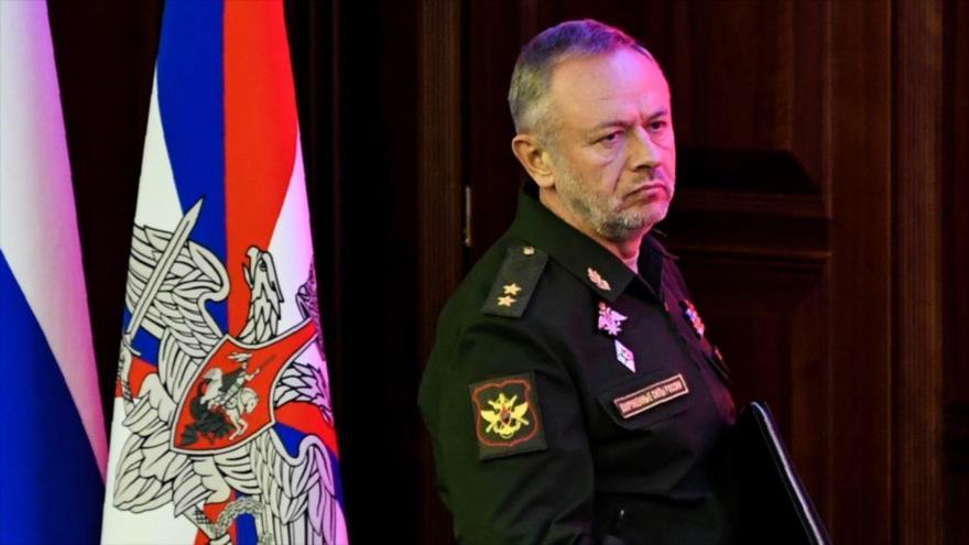 El viceministro de Defensa de Rusia, Alexander Fomin, durante una reunión de altos mandos rusos en Moscú, agosto de 2017. (Foto: AFP)