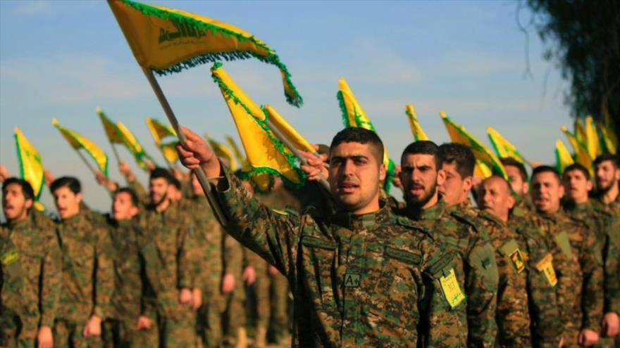 Las fuerzas del Movimiento de Resistencia Islámica de El Líbano (Hezbolá) durante un desfile militar.