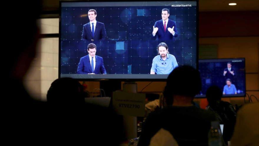 Candidatos marcan diferencias en primer debate electoral en España