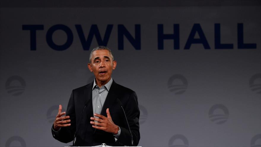El expresidente estadounidense Barack Obama, 6 de abril de 2019. (Fuente: AFP)