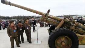 Militares norcoreanos visitan armas decomisadas en Siria por Rusia