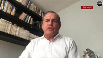 Excanciller ecuatoriano Ricardo Patiño, en una entrevista con HispanTV