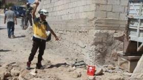 Cascos blancos preparan provocación con armas químicas en Siria