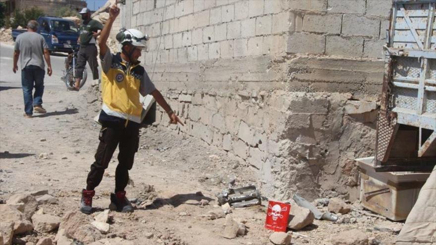Cascos blancos preparan otra provocación con armas químicas en Siria
