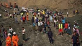 Colapso de una mina deja al menos 50 muertos en Myanmar