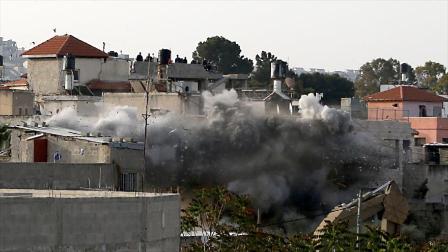 Israel destruye con explosivos una casa palestina en Cisjordania