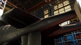 Rusia lanza al agua el mayor submarino de sus fuerzas navales