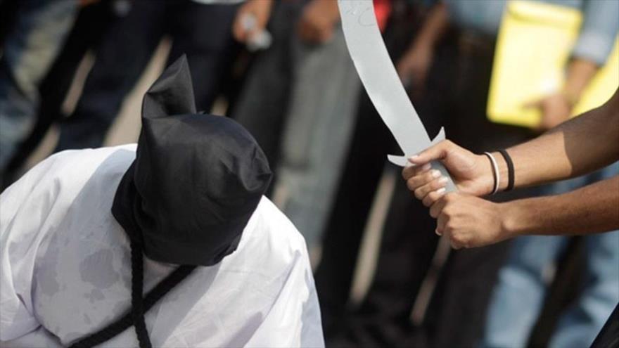Activistas protestan contra las ejecuciones sumarias en Arabia Saudí.