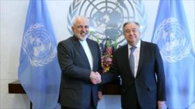 """Canciller iraní aborda con jefe de ONU """"acciones ilegales"""" de EEUU"""