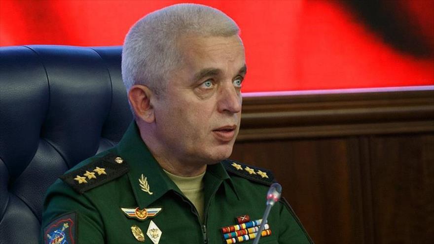 El coronel general ruso Mikhail Mezentsev, director del Centro de Gestión de la Defensa Nacional (NDCC, por sus siglas en ruso).