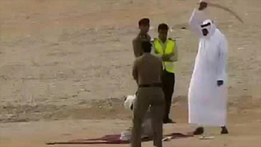 Autoridades de Arabia Saudí se preparan para ejecutar a un hombre.