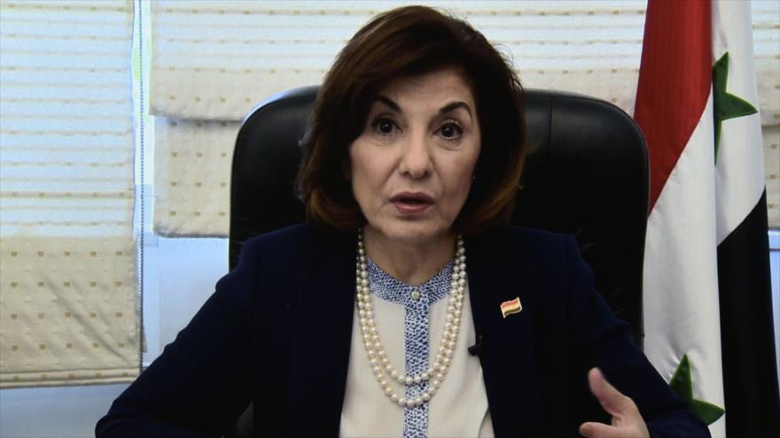 La consejera política y de información en la Presidencia de la República Siria, Buzaina Shaaban.