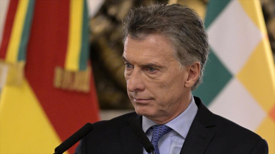 El presidente de Argentina, Mauricio Macri, durante una conferencia de prensa en Buenos Aires, 22 de abril de 2019. (Foto: AFP)