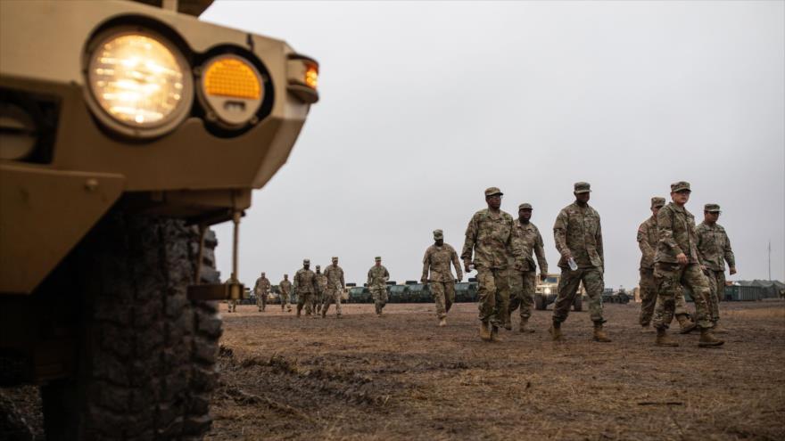 Soldados estadounidenses desplegados en las fronteras con México, Donna, Texas, 22 de noviembre de 2018. (Foto: AFP)