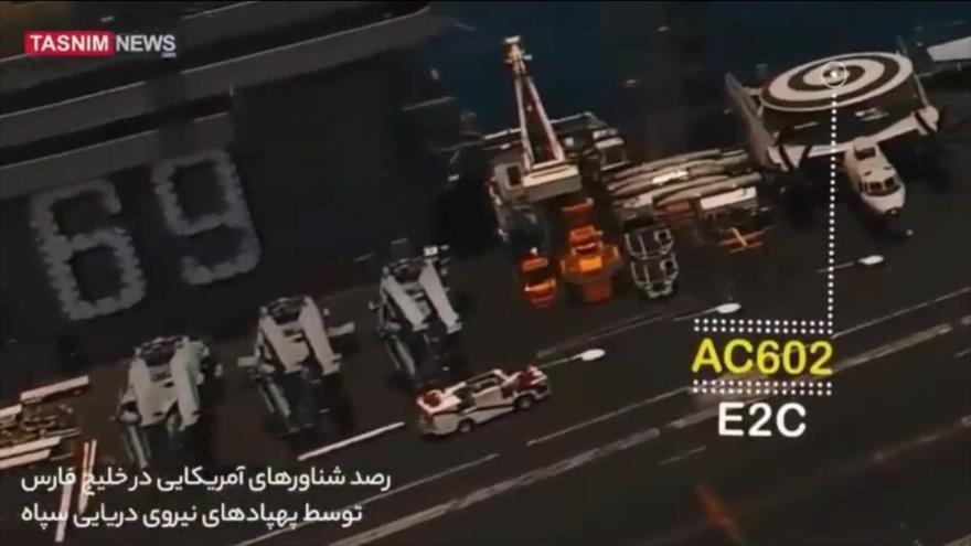 Vídeo: Vea cómo dron iraní toma fotos de buques de guerra de EEUU | HISPANTV
