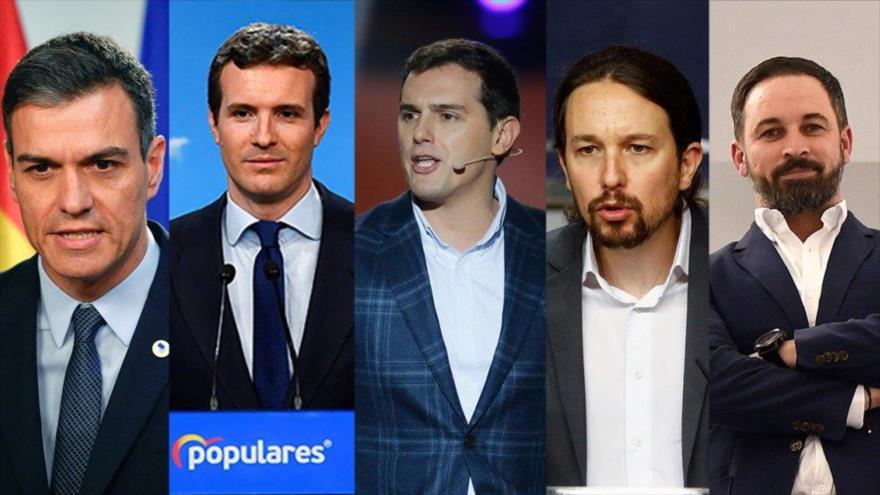 Los principales candidatos de las elecciones generales de España.
