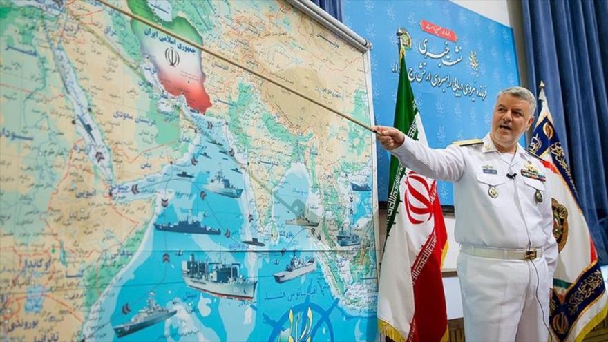 El almirante Hosein Janzadi, comandante de la Fuerza Naval del Ejército de Irán.