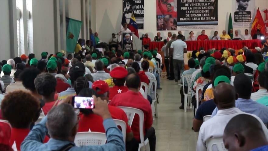 Dominicanos expresan apoyo a Nicolás Maduro y Lula da Silva