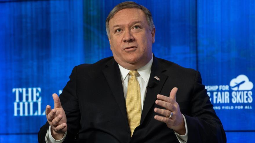 El secretario de Estado de EE.UU., Mike Pompeo, ofrece un discurso en Washington, 29 de abril de 2019. (Foto: AFP)