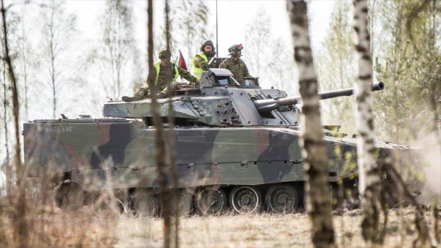 """La OTAN arranca el ejercicio """"Tormenta de primavera"""" en Estonia, 29 de abril de 2019."""