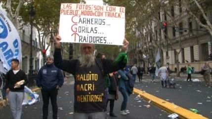 Sindicatos paralizan Argentina en protesta por políticas de Macri