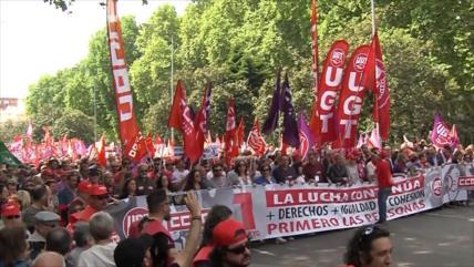 Sindicatos españoles exigen a Sánchez un gobierno de izquierdas