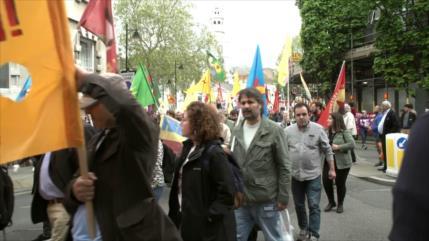 Movilizaciones y protestas en el Día de Trabajador en Londres