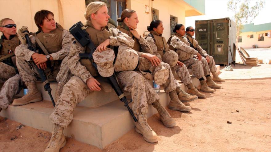 Las soldados del Ejército de EE.UU.