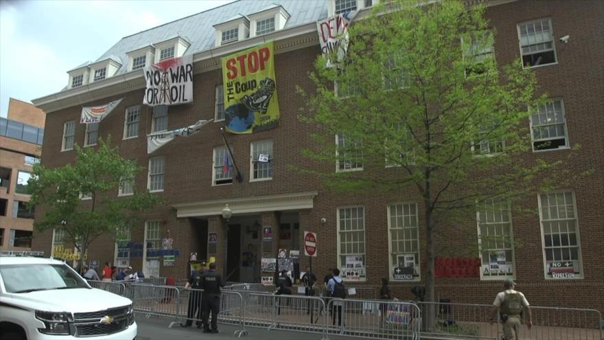 Tensión en la embajada de Venezuela en Washington D.C.
