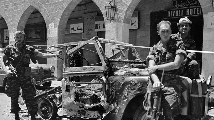Militares israelíes durante la Guerra de los Seis Días en 1967.