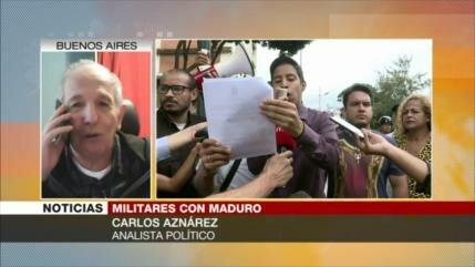 Aznárez: La oposición ya 'no tiene cabida' en Venezuela