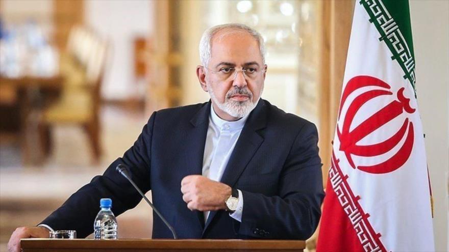 El canciller iraní, Mohamad Yavad Zarif, en una rueda de prensa en Teherán, la capital persa.