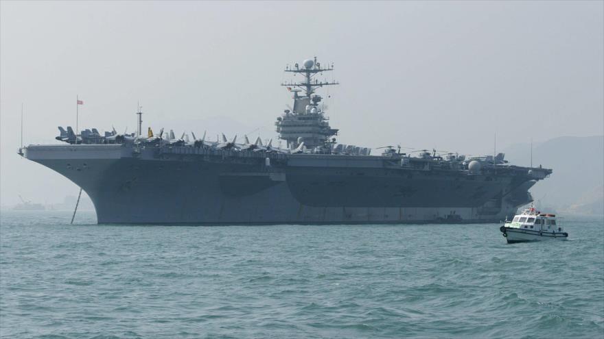 Irán tacha de 'hecho desfasado' el envío de portaviones de EEUU | HISPANTV