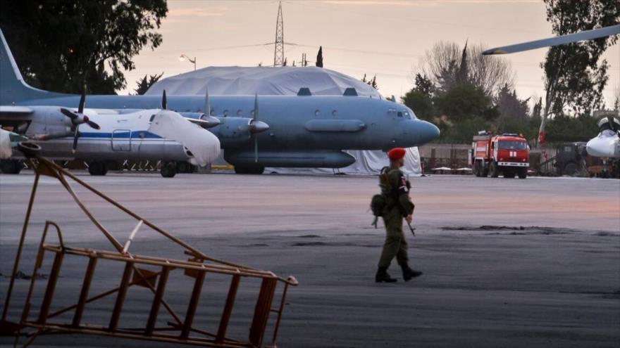 La base aérea de Hmeimim en la provincia de Latakia, en el noroeste de Siria.