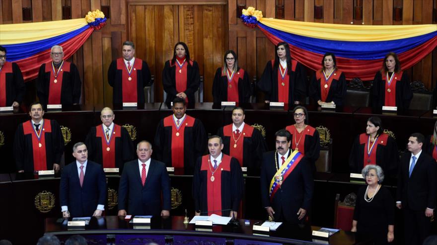 Ceremonia de apertura del año judicial en la Corte Suprema de Justicia de Caracas, 24 de enero de 2019. (Foto: AFP)