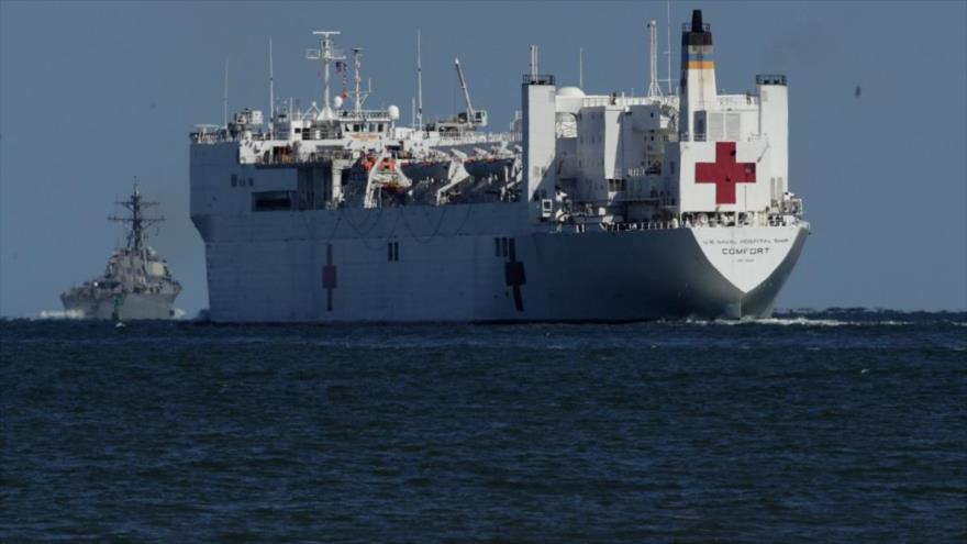 El buque hospital del Ejército de Estados Unidos, USNS Comfort