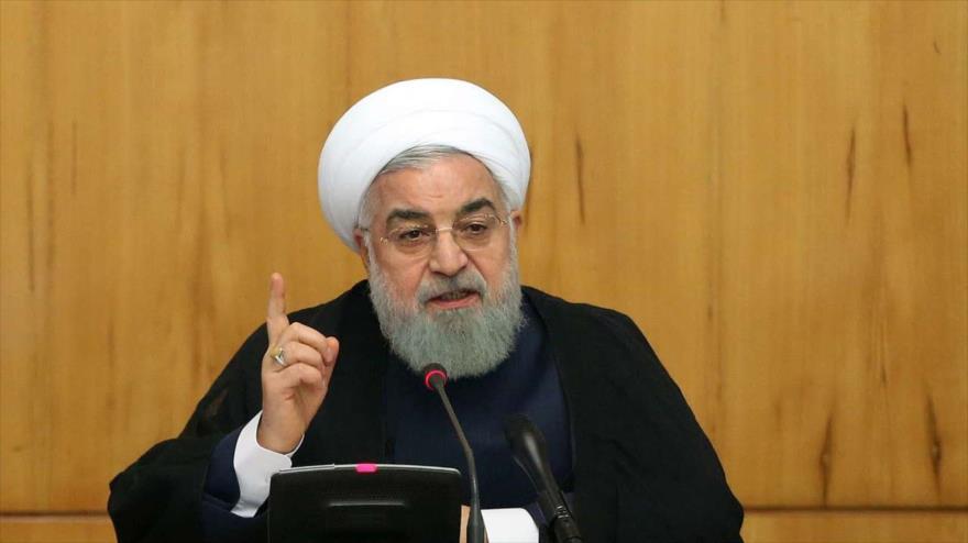 El presidente de Irán, Hasan Rohani, durante una reunión en Teherán, 8 de mayo de 2019. (Foto: IRNA)