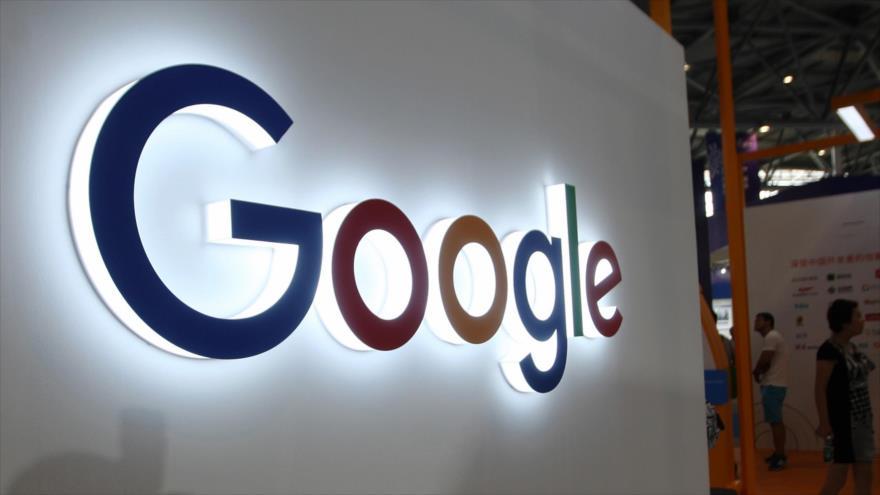 El logotipo de Google en una exhibición en Chongqing, suroeste de China, 23 de agosto de 2018. (Foto: AFP)
