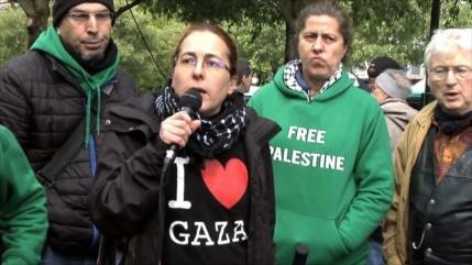 Franceses se manifiestan contra ataques de Israel a Gaza