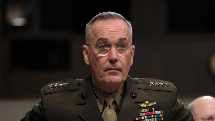 El presidente del Estado Mayor Conjunto de EE.UU., Joseph Dunford, asiste a una reunión del Senado en Washington, 11 de abril de 2019. (Foto: AFP)