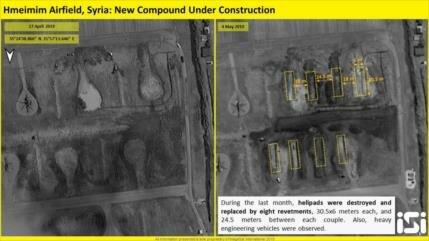 Fotos: Rusia construye búnkeres en su base aérea en Siria
