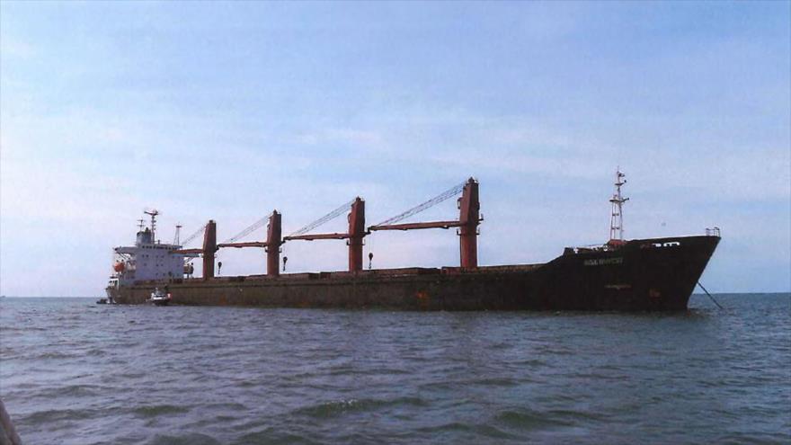 El buque de carga Wise Honest, de bandera norcoreana, confiscado por EE.UU., 9 de mayo de 2019. (Foto: AFP)