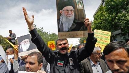 Miles de iraníes apoyan decisión del Gobierno sobre pacto nuclear
