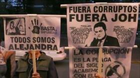 Hondureños de nuevo protestan contra Juan Orlando Hernández