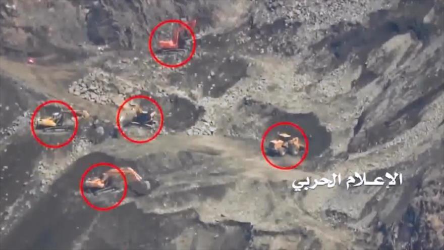 Vídeo: Misiles yemeníes impactan en buldóceres saudíes en Jizan   HISPANTV