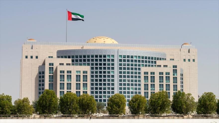 Edifico del Ministerio de Exteriores de los Emiratos Árabes Unidos (EAU) en Abu Dabi, capital del país árabe.