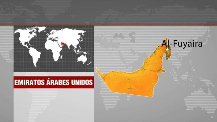 La ciudad portuaria de Al-Fuyaira, situada en el noreste de los Emiratos Árabes Unidos (EAU).