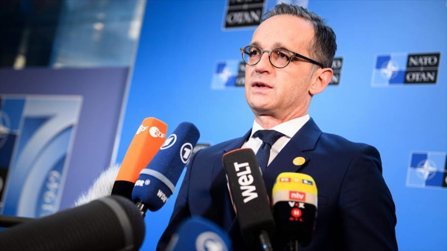 El ministro de Asuntos Exteriores de Alemania, Heiko Maas, en una reunión de la OTAN, Washington, 4 de abril de 2019. (Foto: AFP)