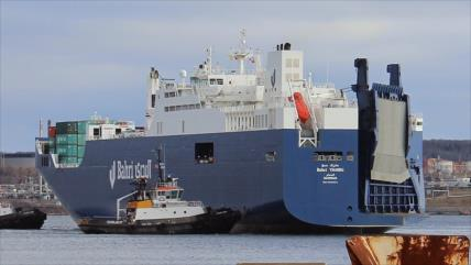 Barco saudí sospechoso de llevar armas hace escala en España